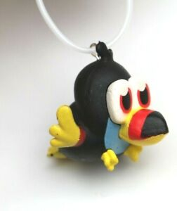 Bird Black Yellow Kawaii Upcycled Necklace Choker Pastel Goth Grunge vtg style