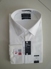 Van Heusen Men's European Fit Creame White Business Shirt  Size:46
