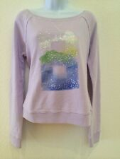 NWT Abercrombie & Fitch New York Lavender Sequined Ladies Sweater