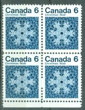 New Listing1971 Canada Christmas 6¢ Blk of 4 Uni#554