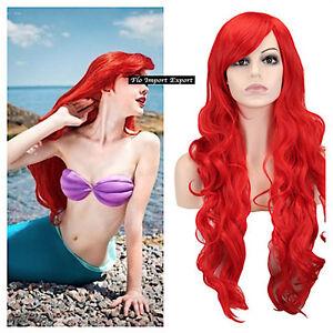 La Petite Sirène Comme Ariel Perruque Carnaval Cosplay Peu Mermaid ARWIG02