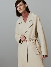 M&S AUTOGRAPH  Herringbone Wrap Coat  PRP £129 ~ size 16-18