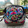 Women Boho Embroidered Handbag Cross Body Shoulder Clutch Messenger Bag Purse QW