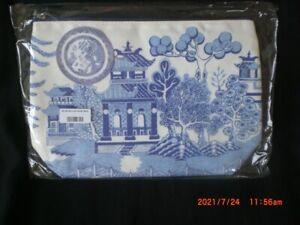 "Blue Willow Pattern Wash Bag - Toilet Bag 11.5"" x 8"""