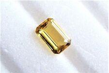 Turmalin  gelb  gold  Baguette Achteck   10 x 6,5 x 3,7  mm   2,15 Carat