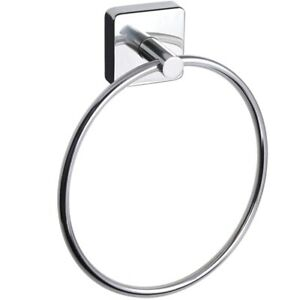 Bath Towel Ring Stainless Steel Holder Square Style Hanger Wall Mounted Made EU