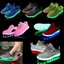 Unisex 7 LED Light Lace Up Luminous Shoes Sportswear Sneaker Luminous Kids Shoes