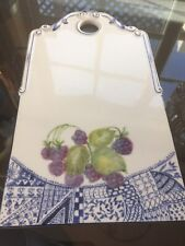 Vintage  Trivet Cheese Board Porcelain  Wall Decoration Germany