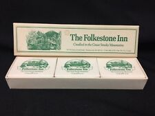 Vintage! NIB The Folkestone Inn Bar Soap Set of 3 FS