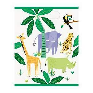 8 Animal Safari Party Loot Bags Jungle Themed Birthday Party Loot Goody Bags