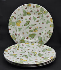 Royal Stafford Alpine Strawberry Set of 4 Dinner Plates Pottery England