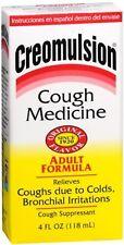 Creomulsion Cough Medicine Adult Formula 4 oz