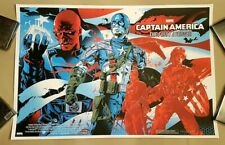 Captain America - First Avenger by A. Iaccarino Art Print Poster (like Mondo)