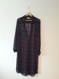 ZARA TARTAN midi / maxi dress L 12-14