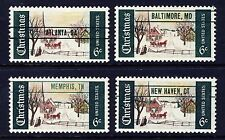 US 1969 Christmas Precancels Complete Set of 4 (1384a) . Mint Never Hinged