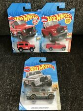 Hot Wheels Land Rover Defender 90 And Land Rover Series III Pickup (Lot Of 3)