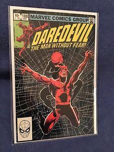 DAREDEVIL #188 (1982) BLACK WIDOW - 1st STONE, CLAW, SHAFT