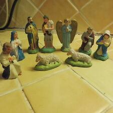lot de 9 santons pour creche