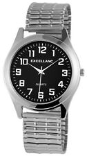 Klassische Herren Armbanduhr Excellanc Quarz Herrenuhr Zugband Metallzugband 36