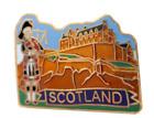 Edinburgh City Castle & Scottish Piper Scotland Pin Badge