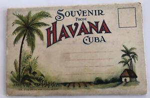 HAVANA, CUBA 1930s SOUVENIR POSTCARD FOLDER