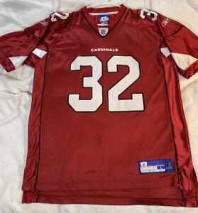 Vintage Arizona Cardinals Edgerrin James Reebok NFL Jersey Men's Large Red