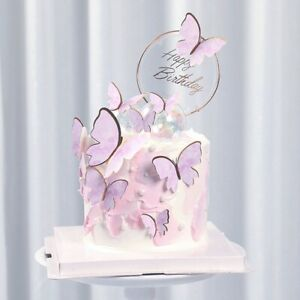 Pink Gold Butterflies Cake Toppers Birthday Cupcake Cake Baby Shower Cake Topper