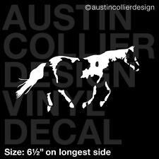 "6.5"" PAINT HORSE vinyl decal car truck window laptop sticker - equestrian equine"