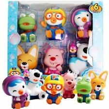 6pcs Pororo Water Gun Set for Bath Time Korean Famous Anime Little Penguin_Nk