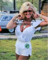SEXY MISS HURST LINDA VAUGHN 8X10 PHOTO INDY 500 TROPHY QUEEN BUSTY BLONDE BOMB