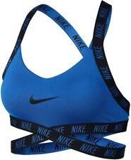 Nike Indy dri fit cross back straps compression Sports bra Medium Blue and black