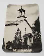 Williamsport Md Photo Postcard St Augustine's Catholic Church
