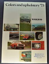 1973 Volvo Color Upholstery Brochure 164E 142 144 145 1800ES Excellent Original