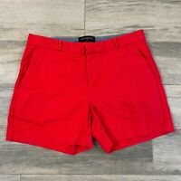 Banana Republic Red Woman's Shorts Size 6 High Leg Low Rise Regular Fit Chino