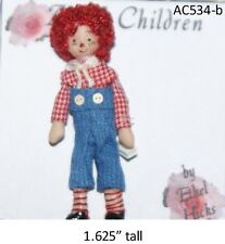 Ethel Hicks Original Porcelain Angel Children Doll - #534-b Raggedy Boy