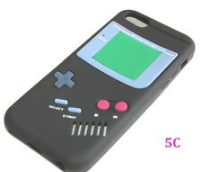 Apple iPhone 5C - SOFT SILICONE RUBBER SKIN CASE COVER BLACK GBA GAMEBOY PLAYER