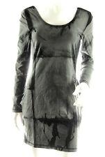 NEW SUPERDRY TOKYO VINTAGE women TIE DYE long sleeve scoop neck STRETCH DRESS *L