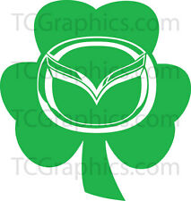 Mazda Shamrock Decal - Vinyl