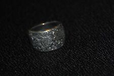 SILPADA - R1583 - Engraved Oxidized Sterling Silver Floral Ring Sz 7 - HTF RARE!