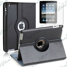 Case Cover Covers Rotary Rotation 360° Black Pouch Apple IPAD 2 3 4