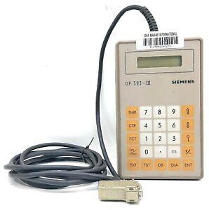 Siemens OP 393-III 6ES5 393-0UA15 Germany