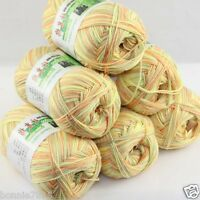 Sale New 6 Skeins x 50gr Soft Bamboo Cotton Hand Knitting Crochet Baby Yarn 935