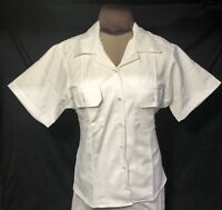 WOMEN'S 22L CADET WEST POINT MILITARY ACADEMY GRAY OVER WHITE SHORT SLEEVE SHIRT