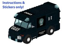 Custom LEGO Gotham SWAT Armored Car instructions stickers 60043 Batman