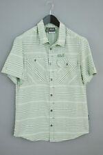 Men Jack Wolfskin Shirt Slim Fit Short Sleeves Outdoor Casual M VAA33