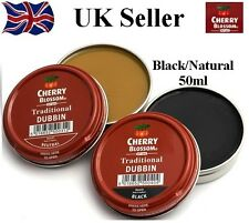 Cherry Blossom Dubbin Natural Black Tin Waterproofs Leather Shoe & Boot Wax 50ml
