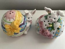 Vintage New China Bunny Salt & Pepper Shakers-Easter-Adorable Gift Option
