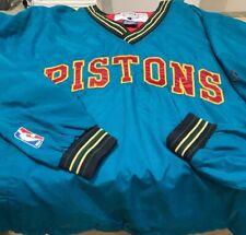Vintage Detroit Pistons NBA Champion V Neck Warm Up Top Medium