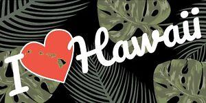 I Heart Hawaii Beach Towel