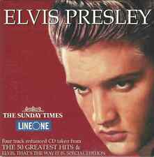 ELVIS PRESLEY - THE SUNDAY TIMES 2001 UK FOUR TRACK ENHANCED PROMO CARD SLEEVE